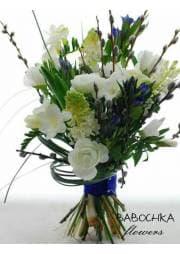 """Букет невесты  в бело- синей гамме""""Твоя весна"""""""